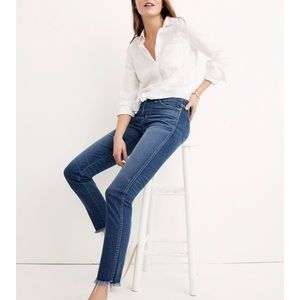 Madewell Slim Straight Jeans raw hem edition